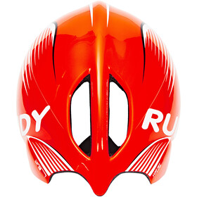 Rudy Project Wing57 Kask rowerowy, red fluo / white (shiny)